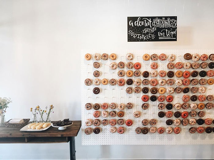 Wedding Donut Wall - The Maharani Diaries