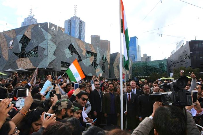Indian Film Festival Melbourne 2015 - Flag Hoist Event Anil Kapoor - The Maharani Diaries