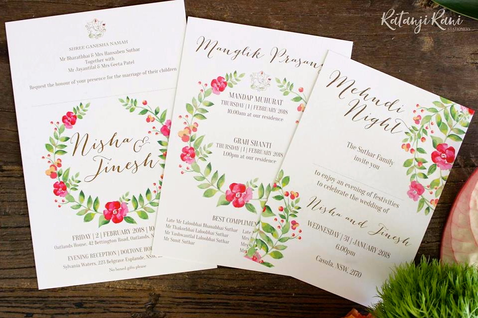 Indian Wedding Stationery for the Couple - Ratanji Rani - The Maharani Diaries