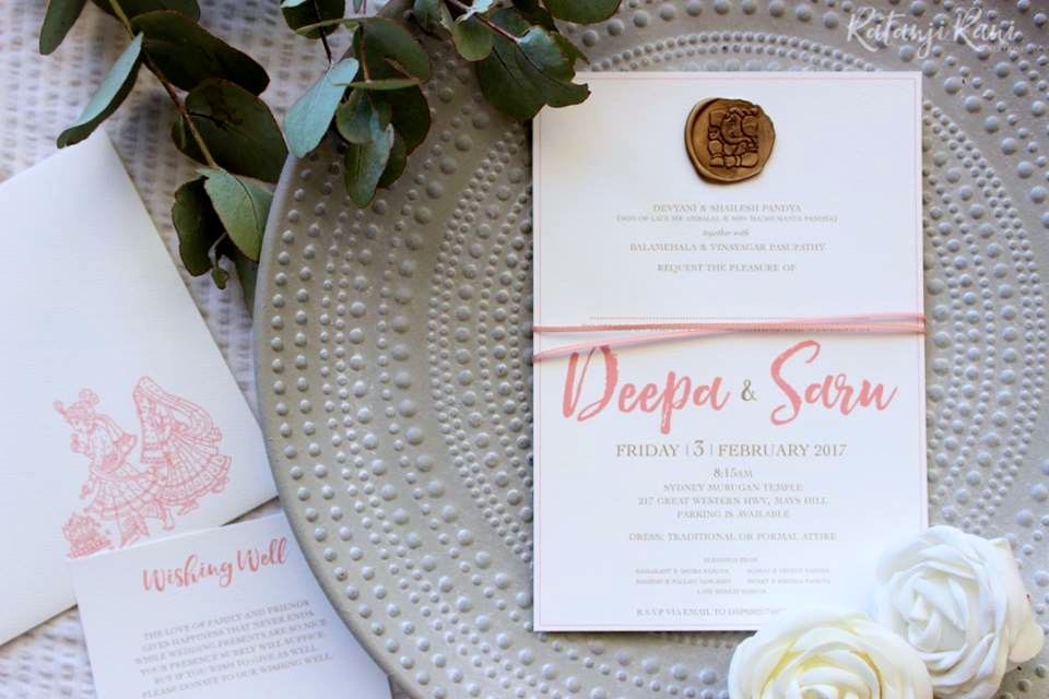 Introducing Bespoke Indian Wedding Stationery Ratanji Rani - The Maharani Diaries