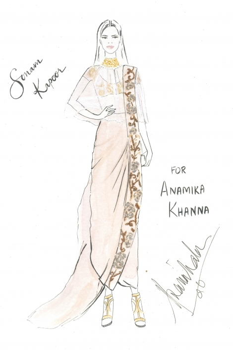 Cuckoo For Colour - Sonam Kapoor for Anamika Khanna at Cannes Film Festival - The Maharani Diaries