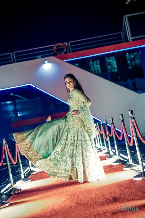 Bride Ankita on her Sangeet Day in Sabyasachi - Ankita & Manmeet Indian Wedding in Amsterdam - The Maharani Diaries