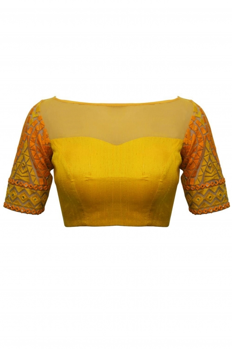 Beautiful saree blouse design from House Of Blouse - The Maharani Diaries