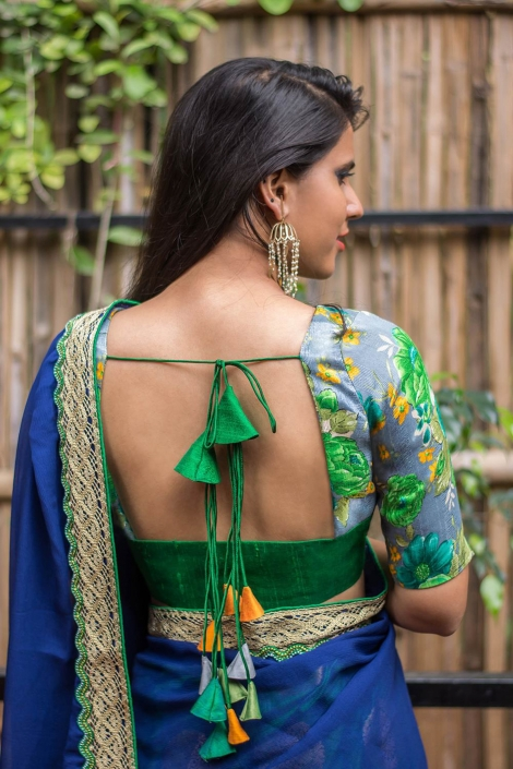 Designer Saree Blouse and Saree from House Of Blouse - The Maharani Diaries
