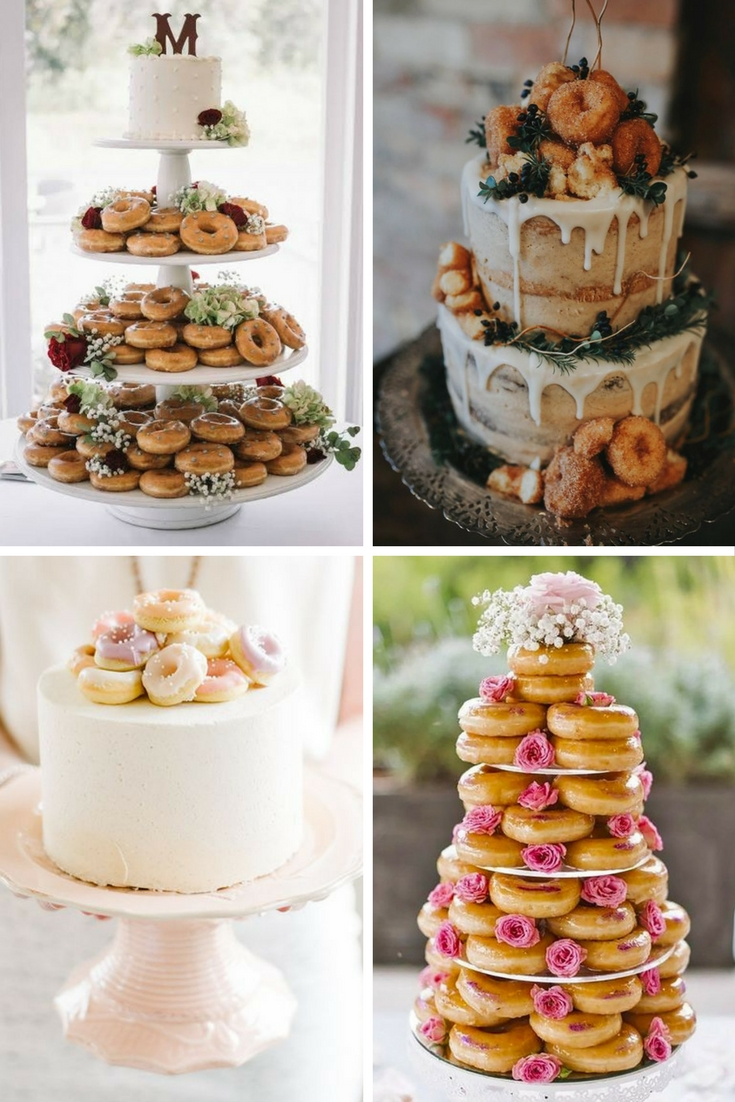 donut wedding cakes sweet ways to include doughnuts in your wedding 13703