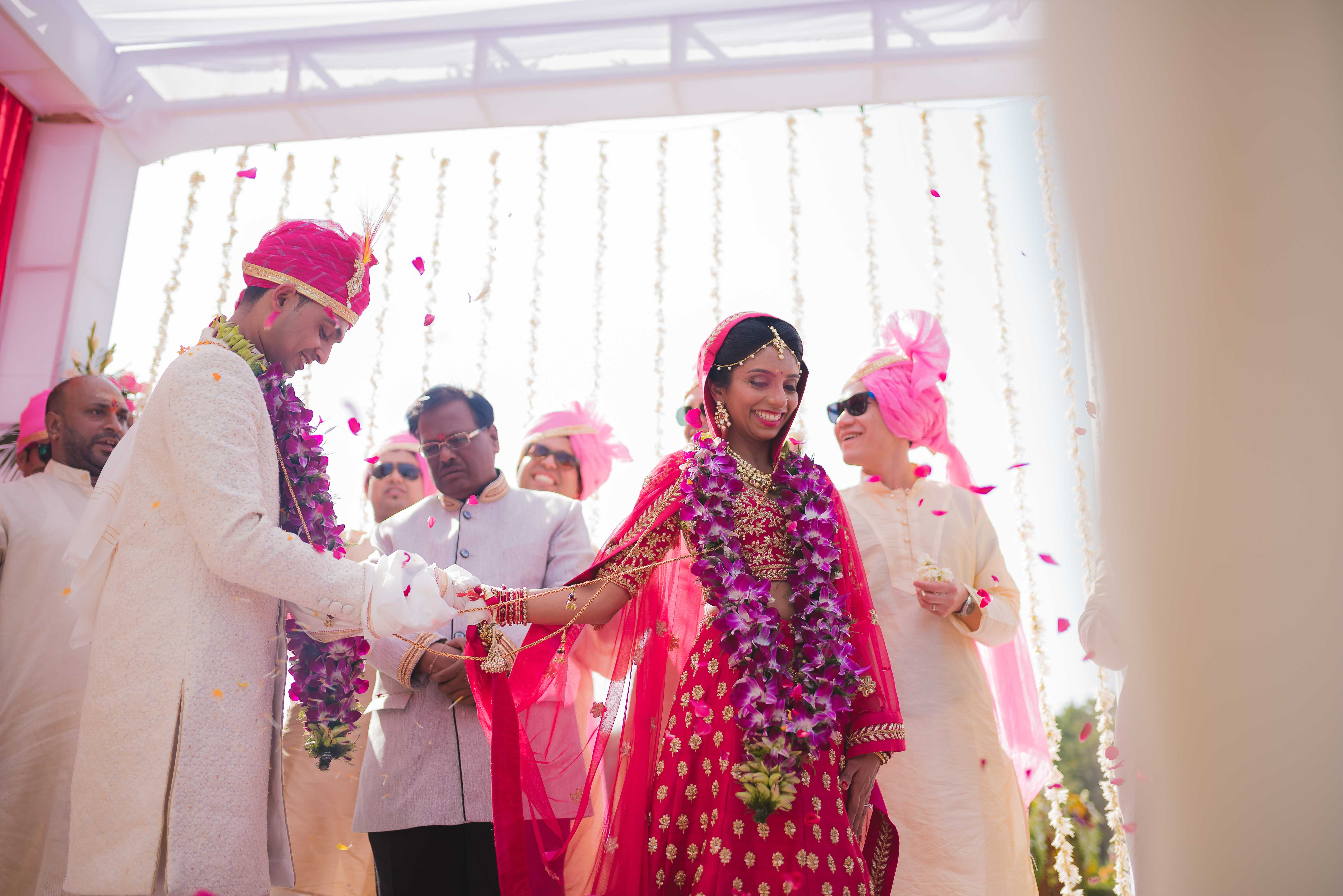 Indian Bride and Groom at Destination Wedding - Nidhi + Arpan