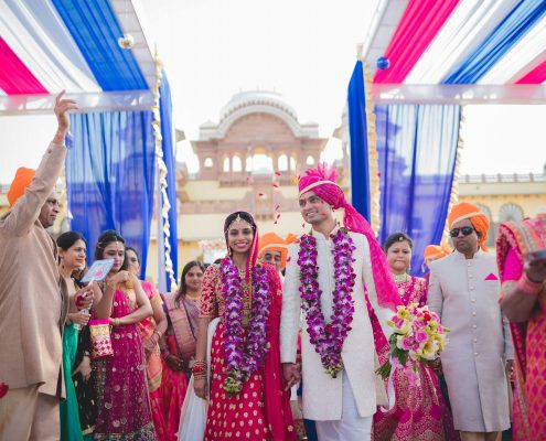 Exotic Indian Destination Wedding in Rajasthan - Nidhi + Arpan