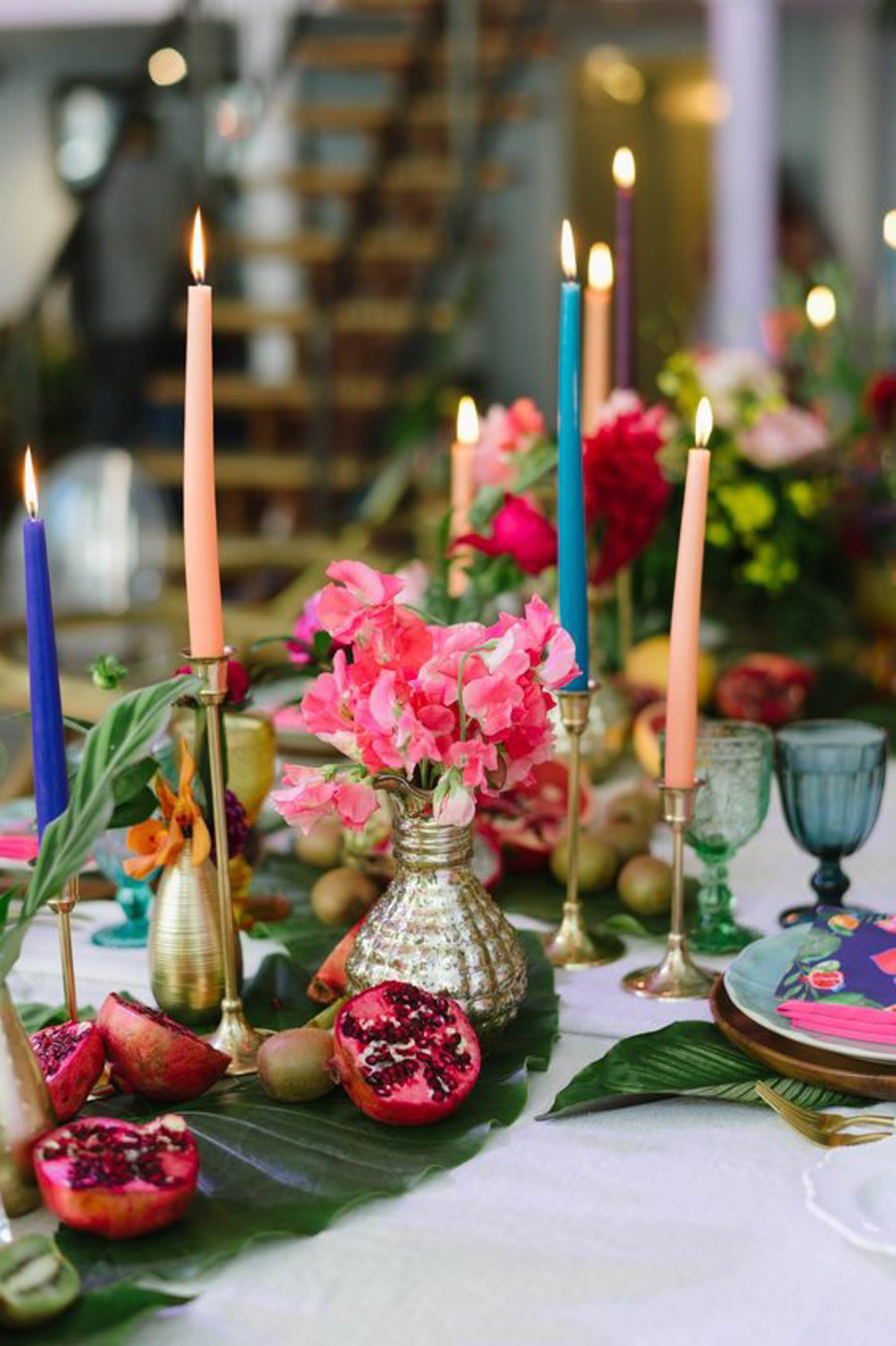 Enhance your Indian wedding reception party with mismatched wedding decor