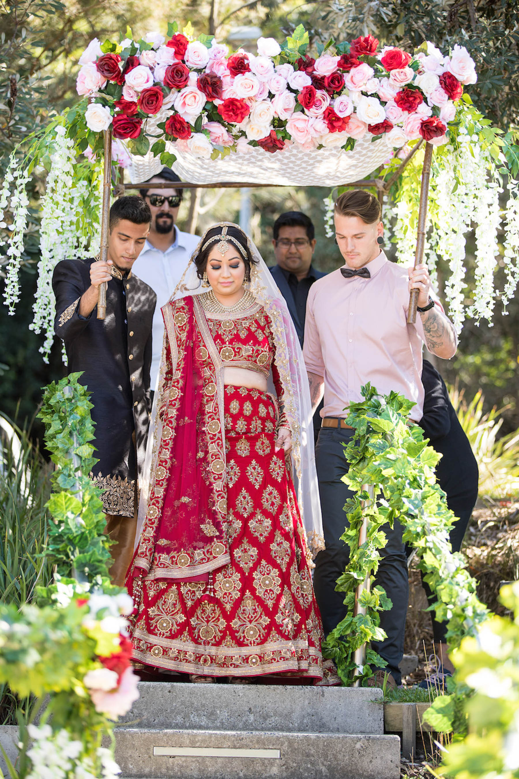 Jasmine from Payal Pasand helped us out with everything, including Jon's and his groomsmen's outfits. I had the tailoring completed in a short time by Indian tailor, Altaf in Sydney.