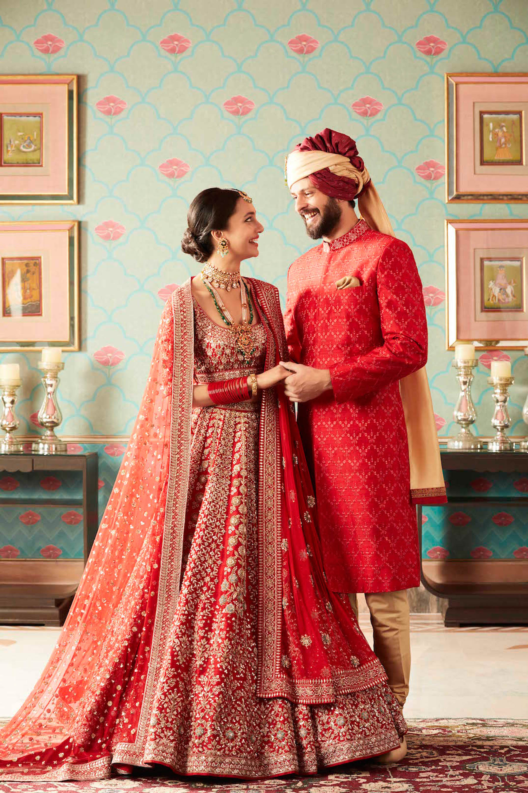 "Anita Dongre describes her Winter festive collection as a ""celebration of togetherness."" Jaipur Love is ""filled with the vibrant colours of revelry. It is the anticipation that comes with unwrapping the tissue around your favourite lehenga."