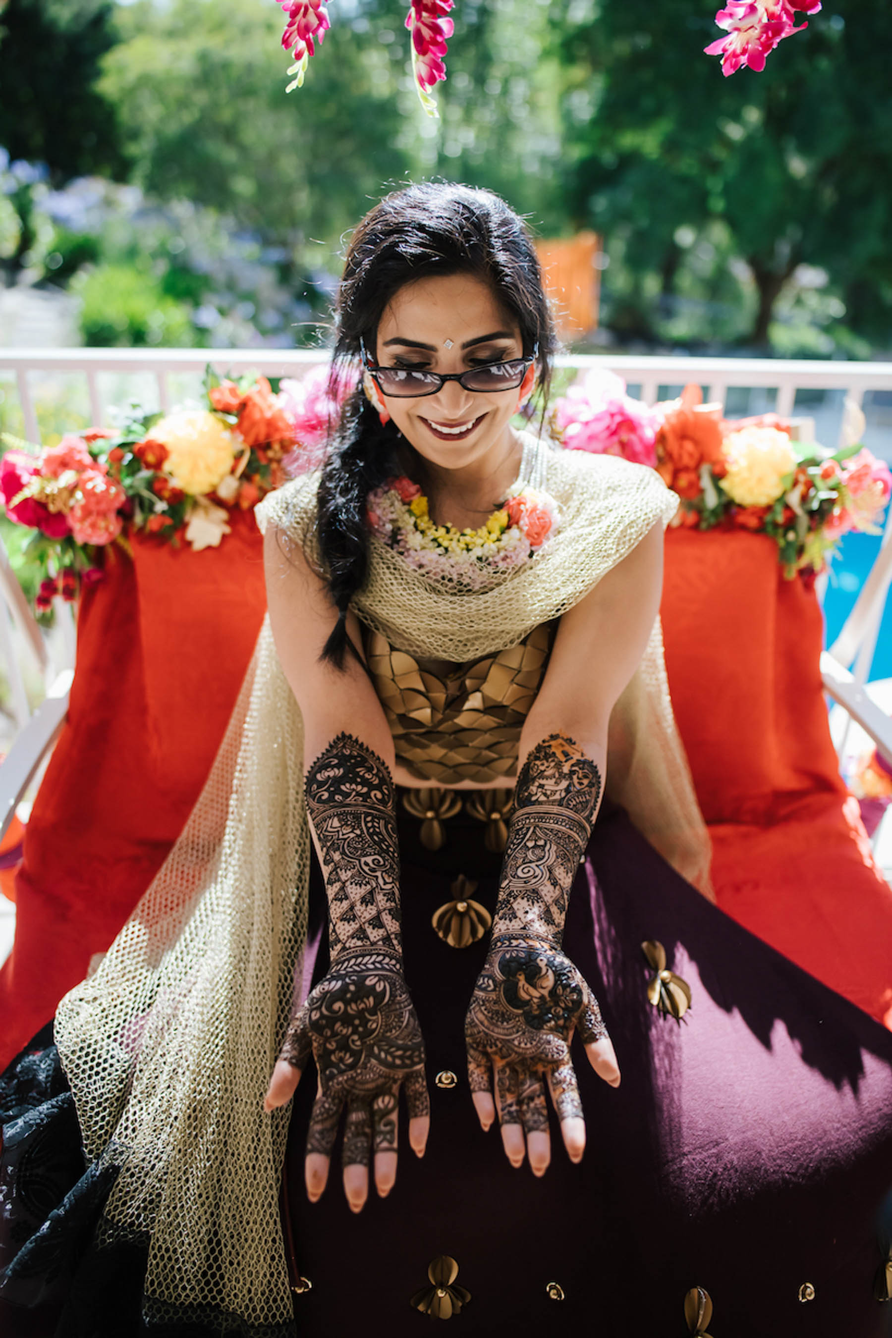 Melbourne bride, Nomeeta's Indian wedding festivities began with a colourful outdoor haldi and mehndi party, followed on by the family garba night.