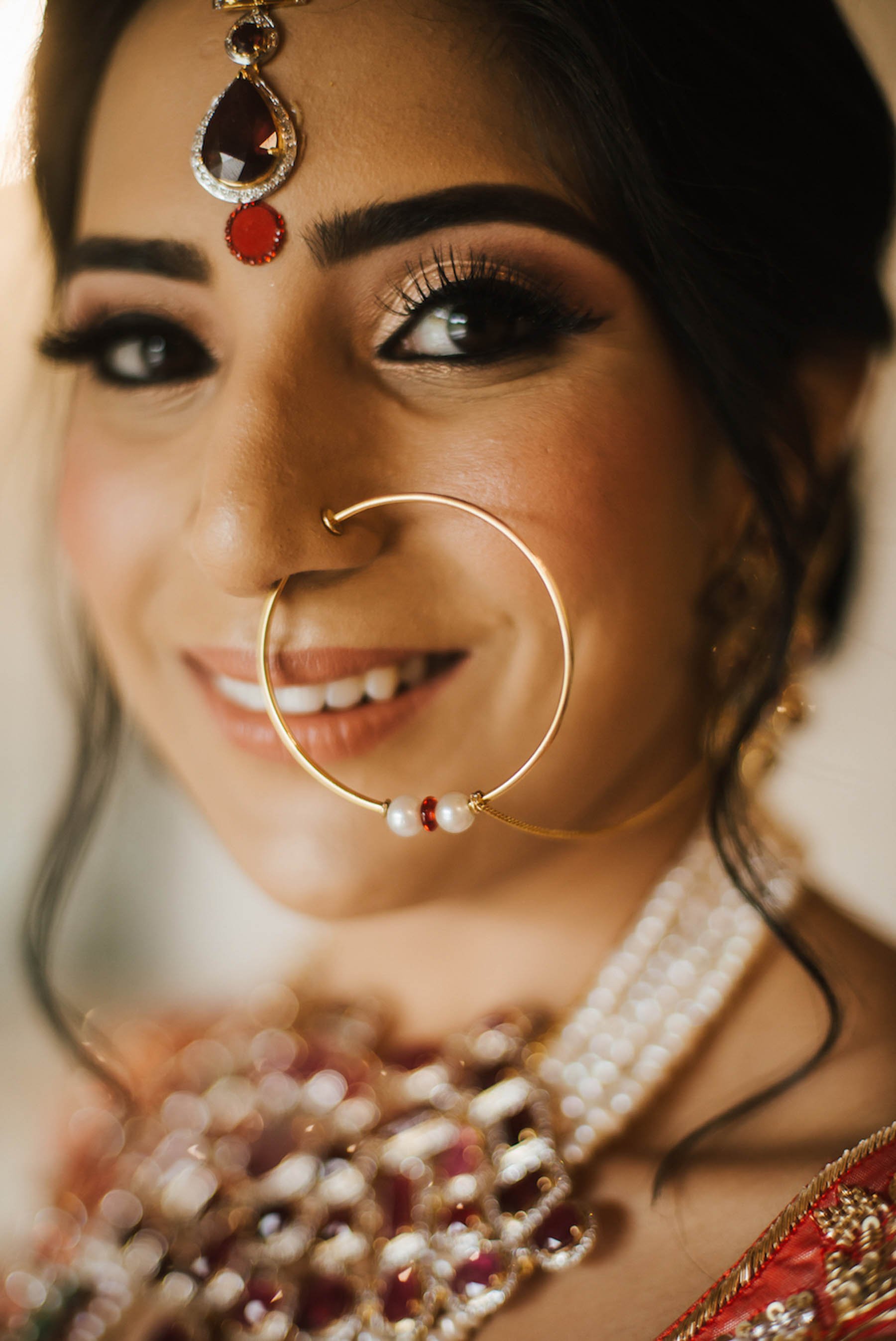 Beautiful Indian bride Nomeeta on her wedding day in Melbourne.