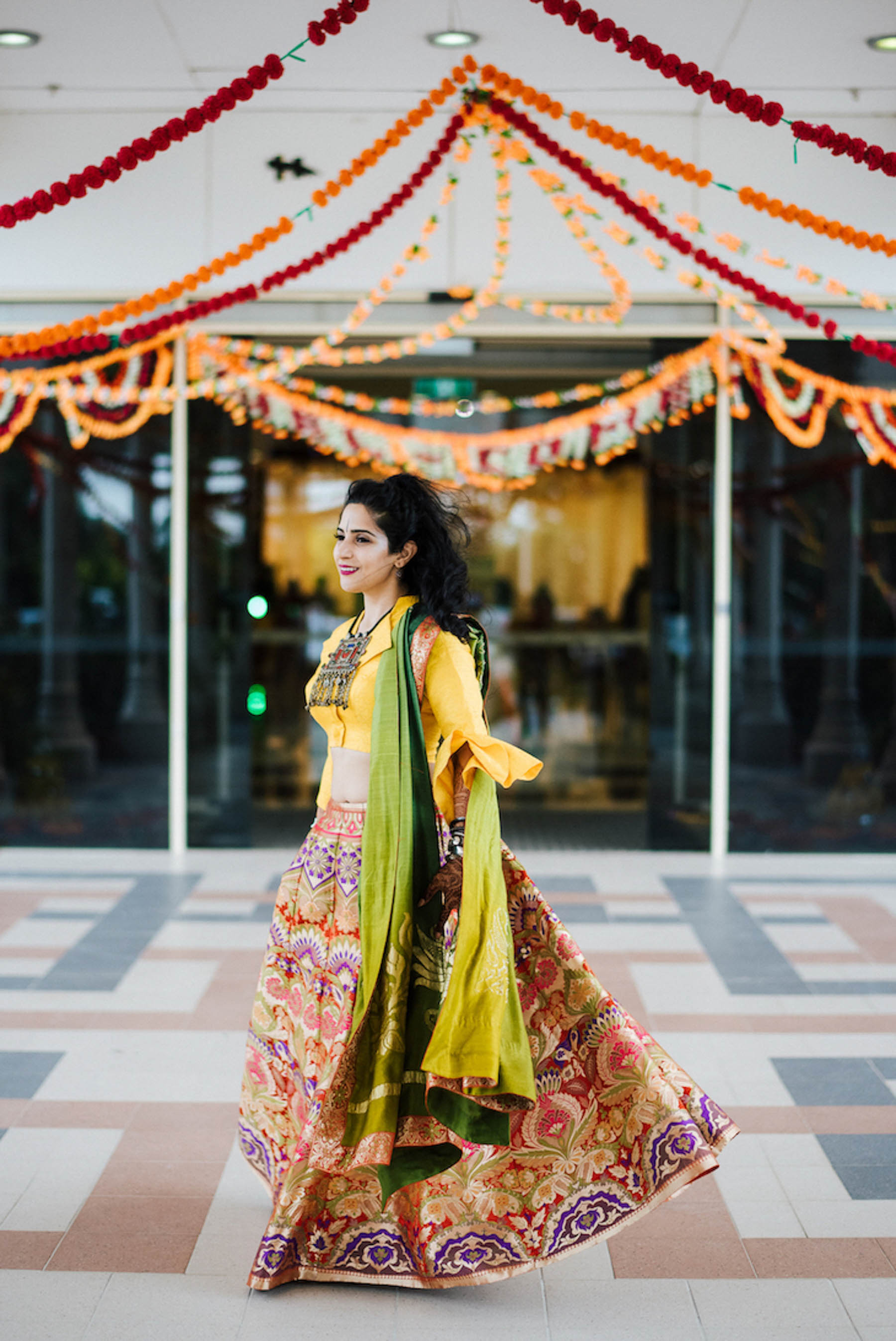 On drawing inspiration for her own wedding look, Nomeeta was quite alternative in her style, opting for unique designer wear that wasn't so common.
