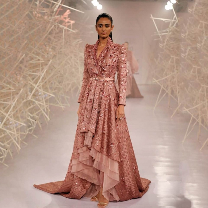 Some of the hottest Indian bridal fashion trends for 2020 include layers and tiers.