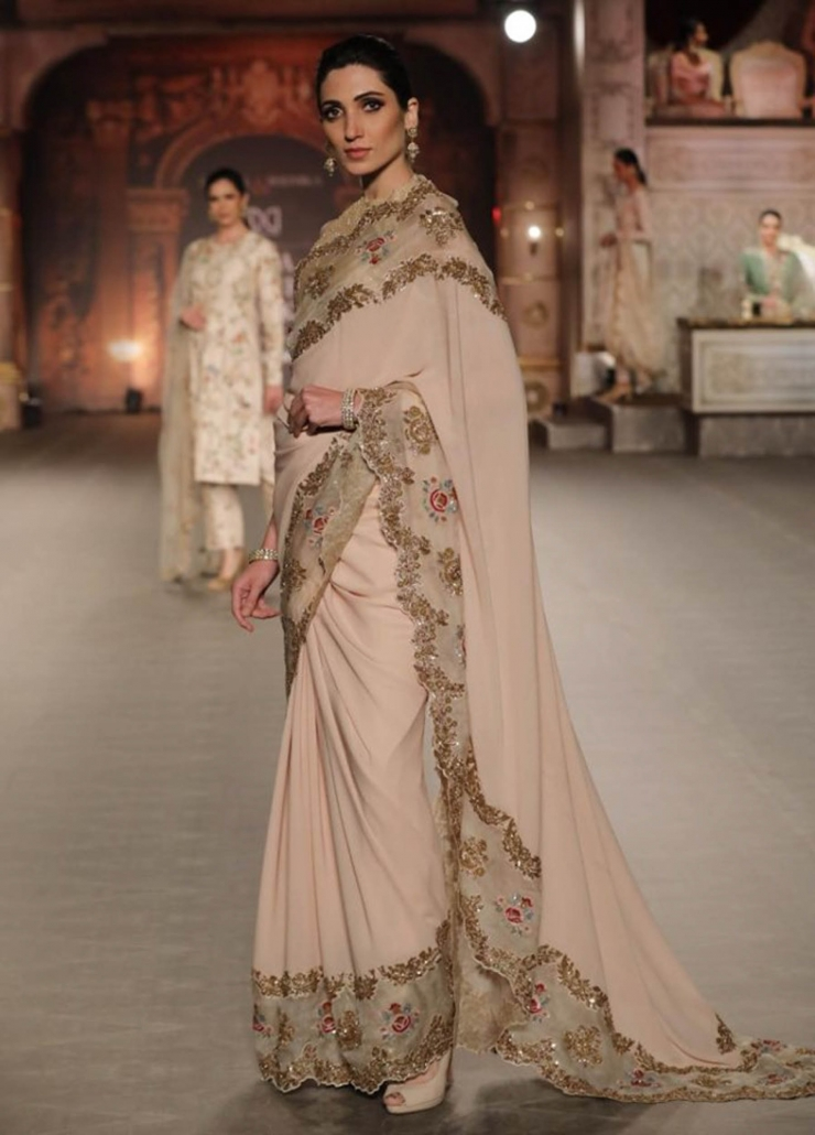 The hottest Indian bridal fashion trends for 2020 includes the humble saree. WIth thanks to designers like Shyamal And Bhumika.