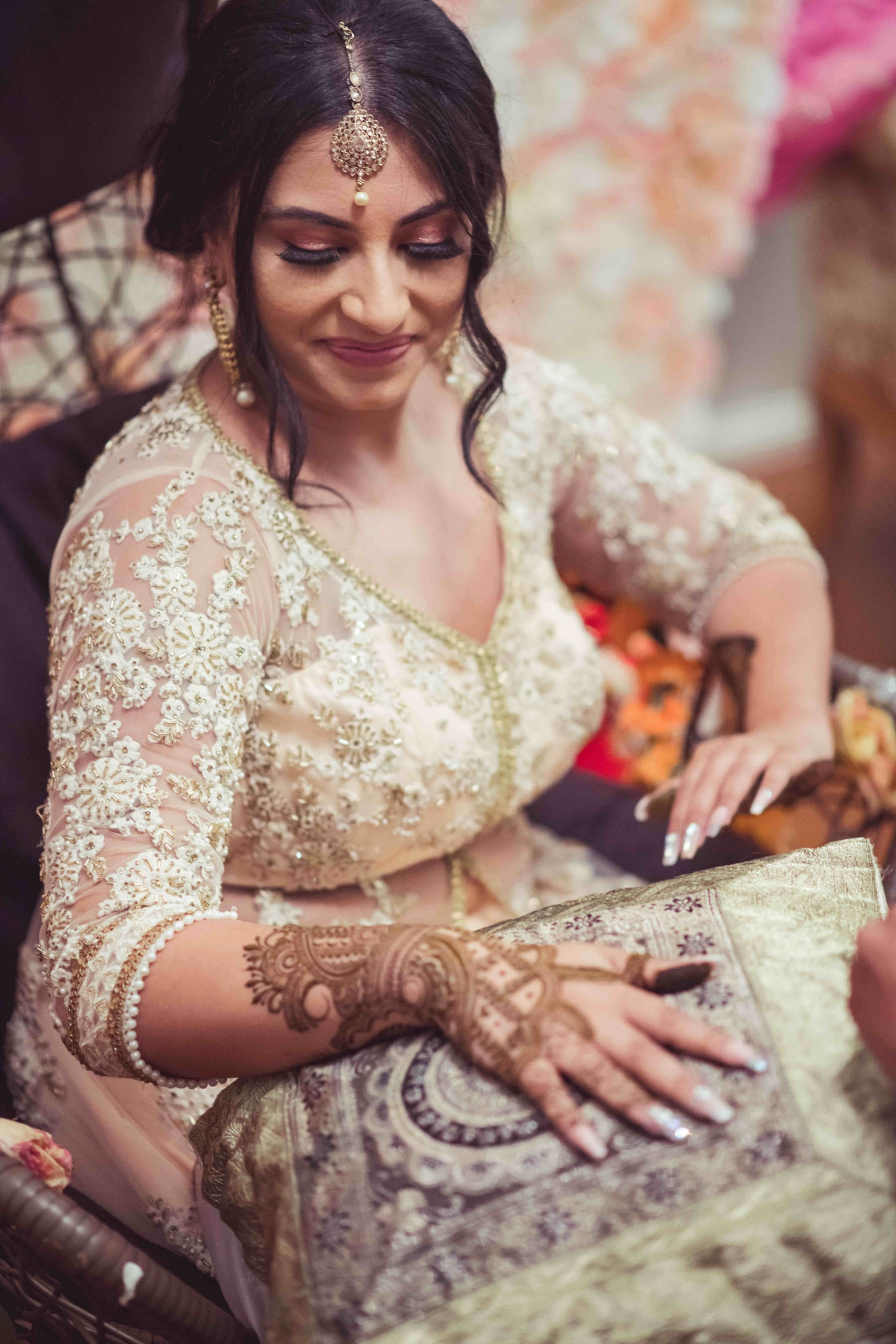 Melbourne bride, Kanika during her mehndi party.