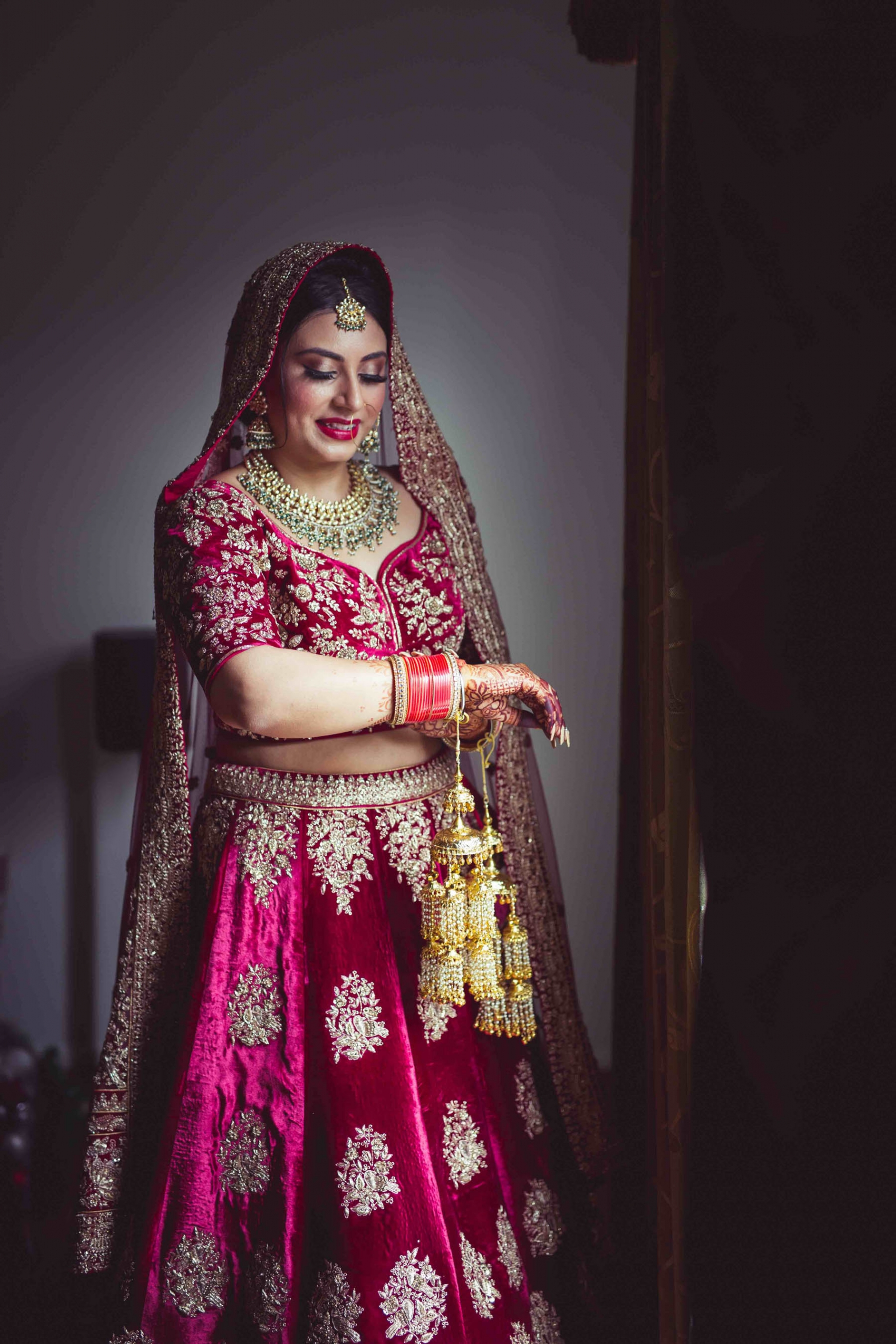 Melbourne bride, Kanika wearing Frontier Raas on her wedding day. Photography captured by Rolling Canvas.