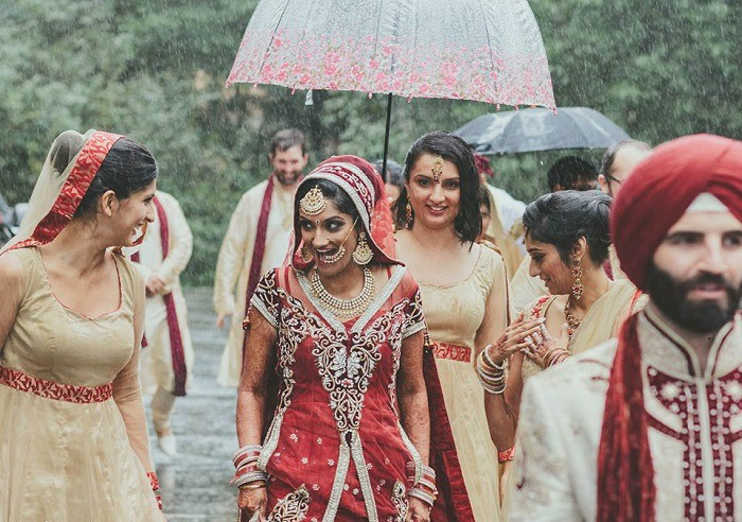 Rain, rain go away! Here's how to deal with inclement weather conditions on your wedding day.