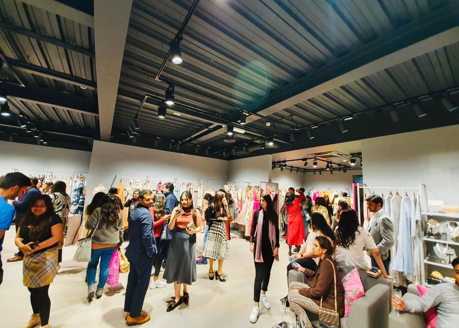 Pernia's Pop Up Studio store in London opened amid much fanfare with London celebrities all in attendance.