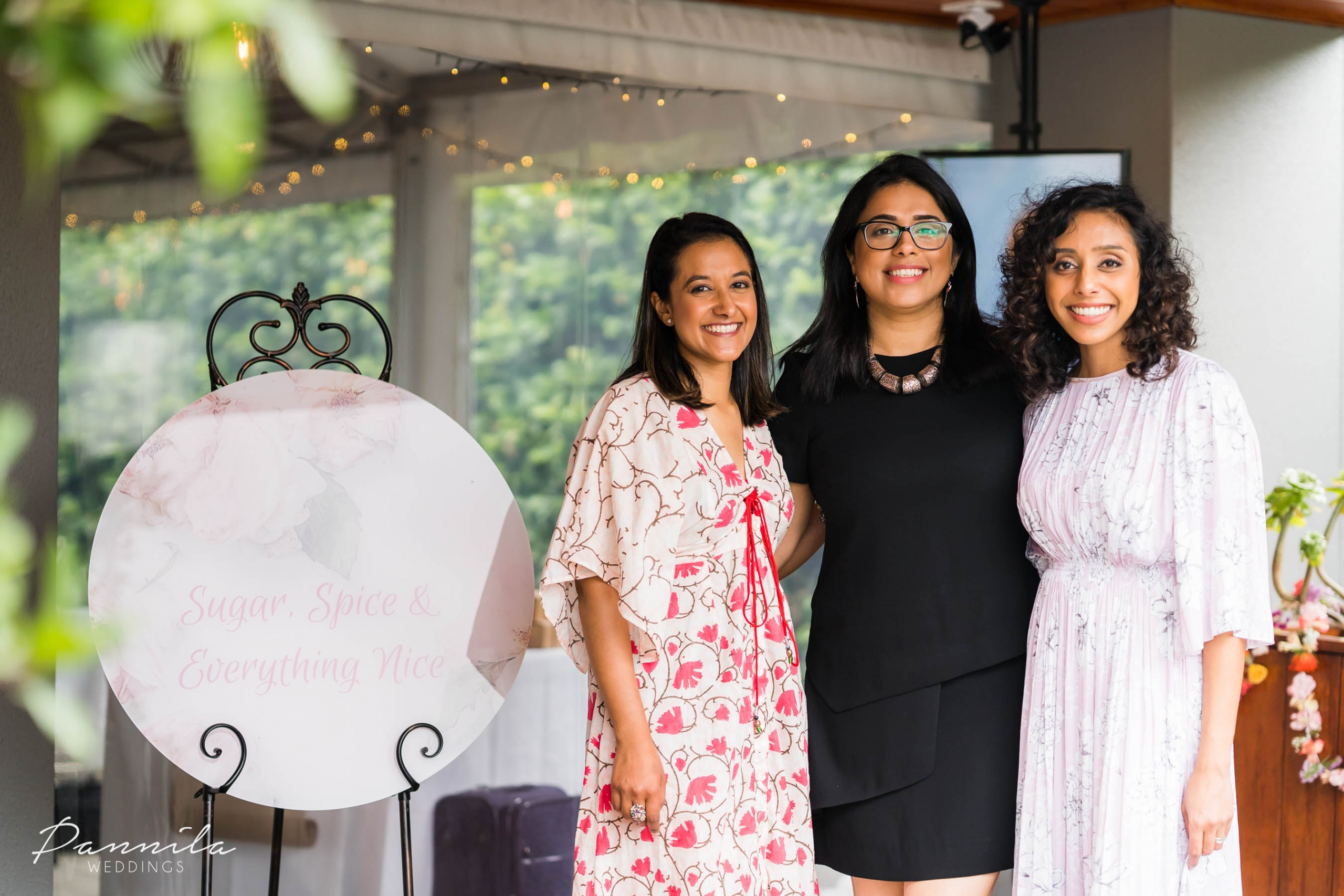Poonam from The Maharani Diaries, Bhavna from The Modern Desi and Afra of Oh That Be Good at a Sydney event for South Asians.