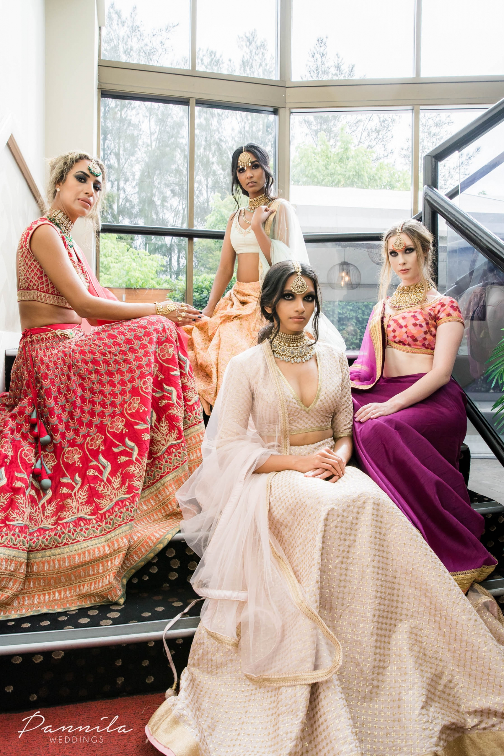 Indian bridal fashion from By Elora on showcase at a Sydney fashion and high tea event hosted by The Maharani Diaries in the western suburbs of Sydney, Australia.