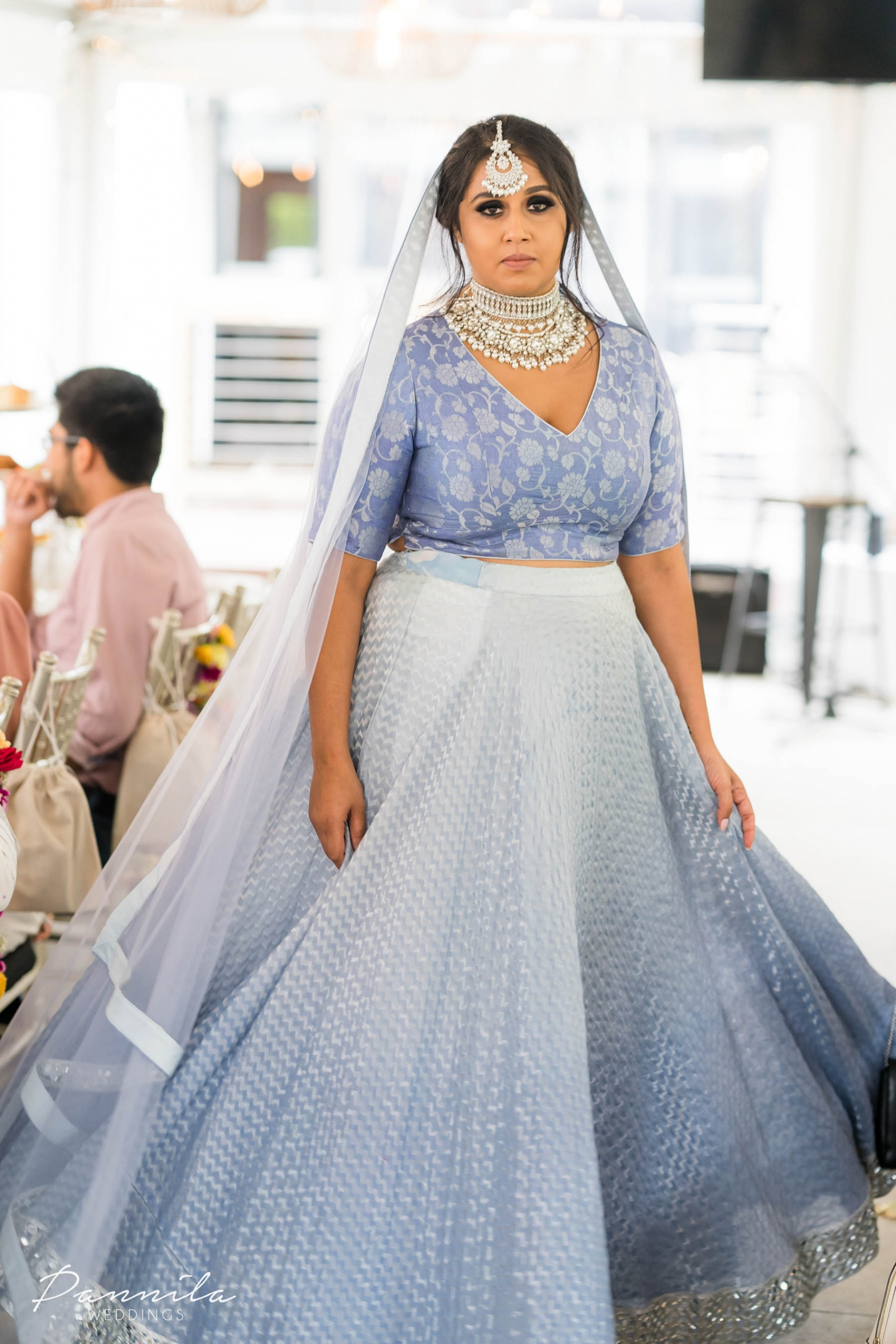 Model at a Sydney Indian bridal fashion and high tea event hosted by The Maharani Diaries.
