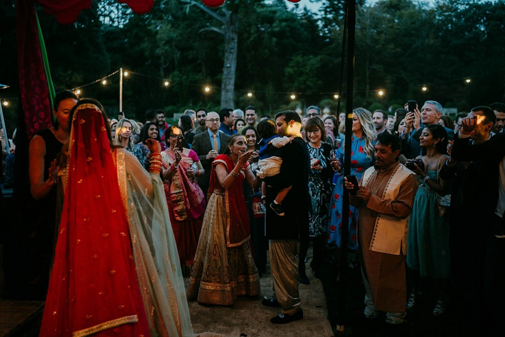 Lindsay and Miten's sangeet party was held in a marquee at Ashford Castle in Ireland.