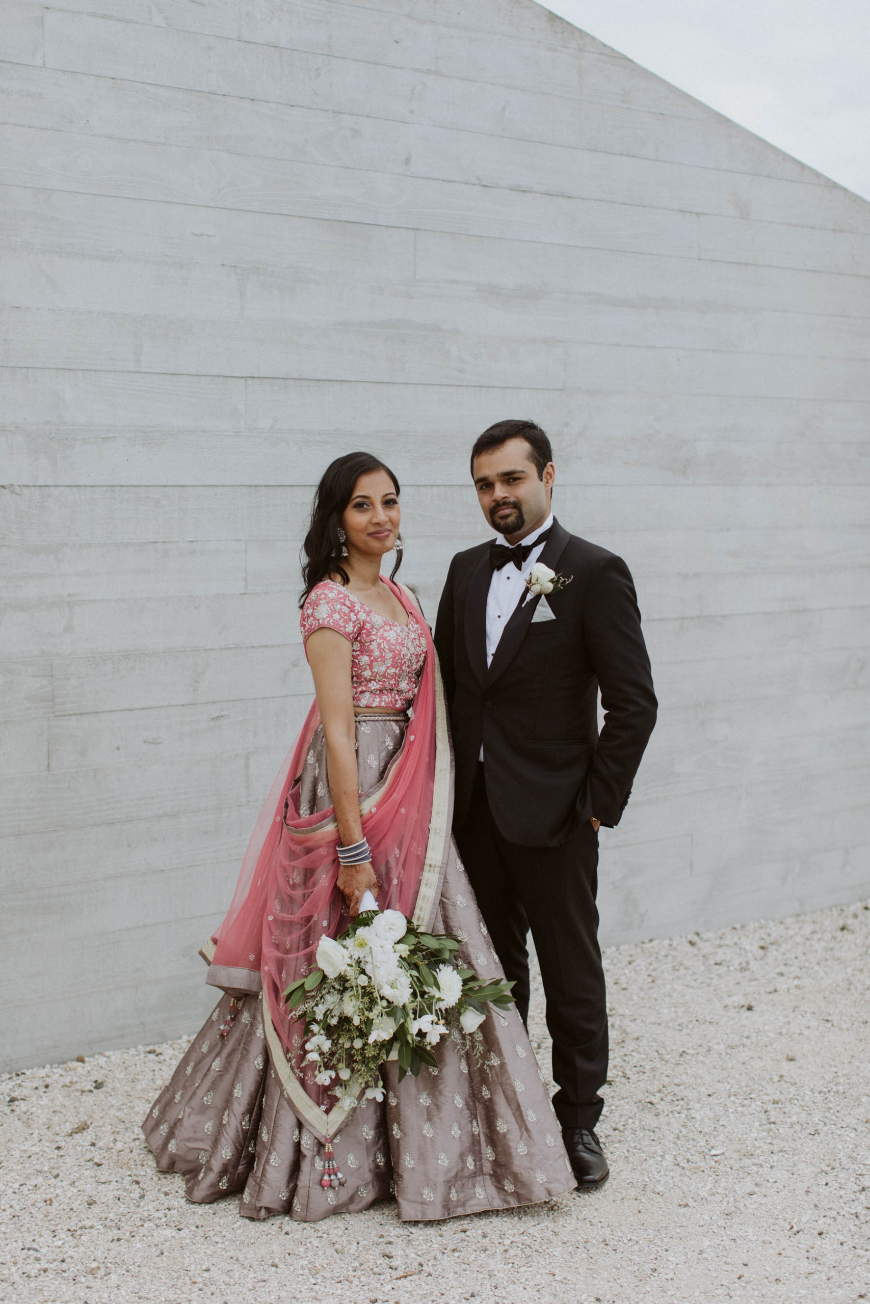 Shilpa and Shakti at their wedding in Auckland, New Zealand.