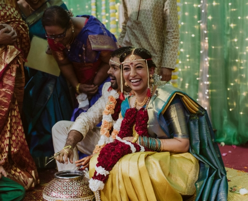 Shilpa and Shakti's stunning traditional Indian wedding in Auckland, New Zealand at the BAPS Swaminarayan mandir.