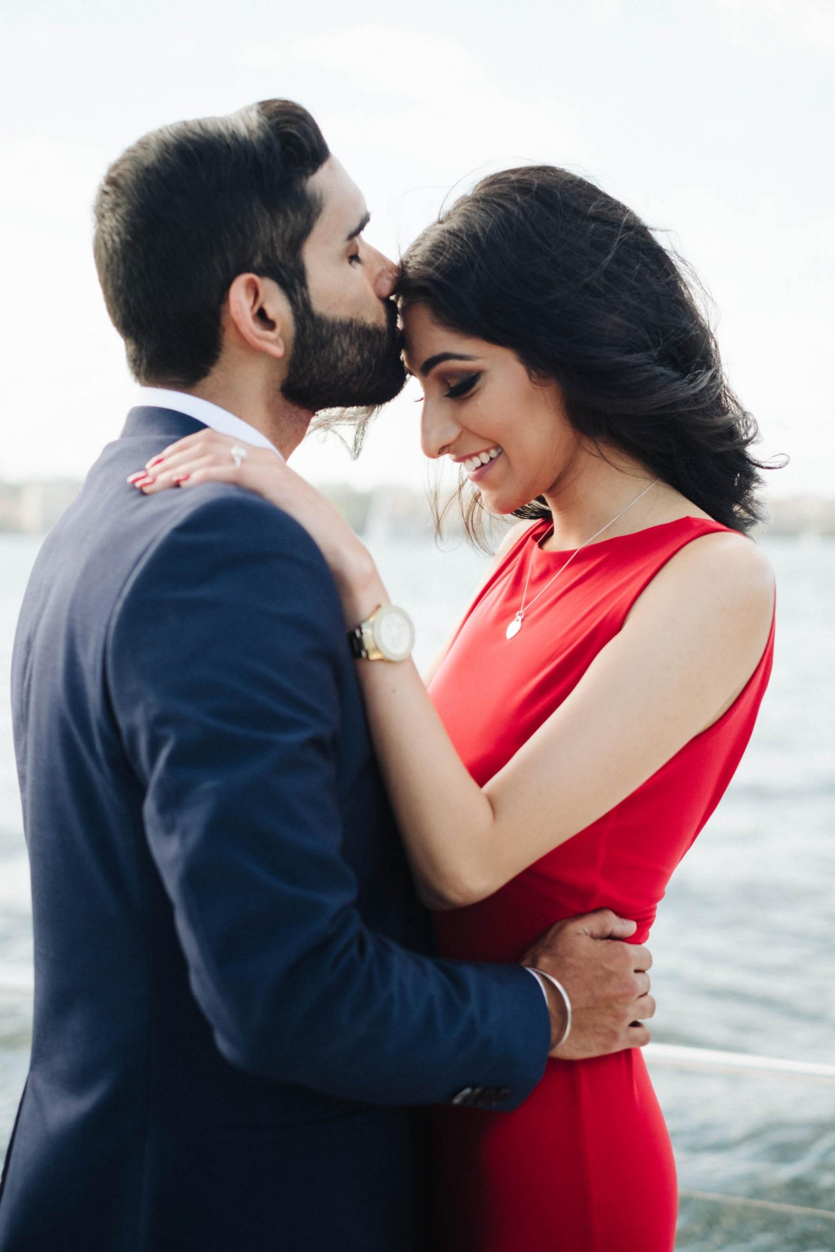 Sunny and Karen's magical proposal took place on Sydney Harbour.