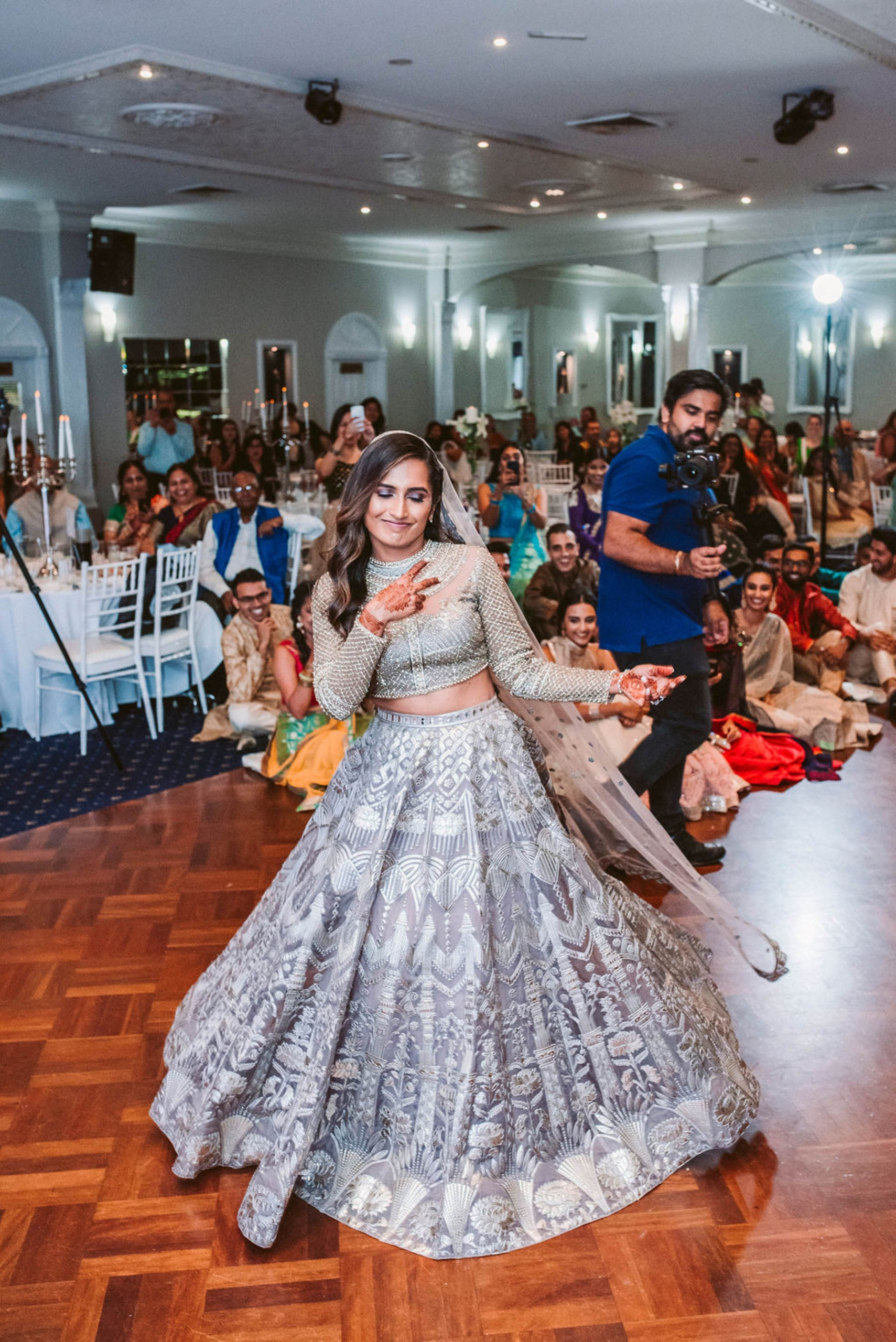 Bride, Shaheen wore a beautiful Falguni and Shane Peacock lehenga for her wedding in Sydney.