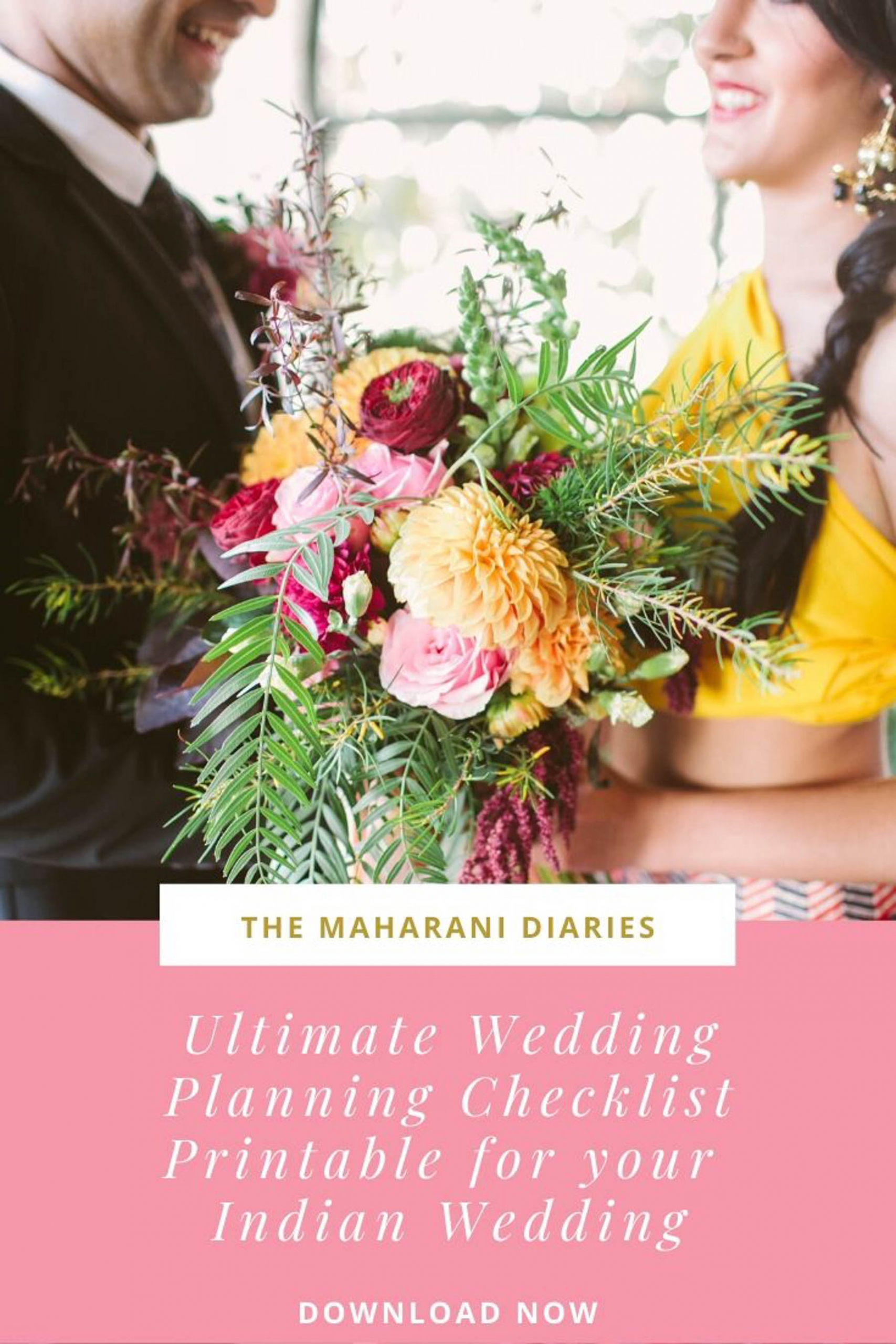 The Maharani Diaries ultimate Indian wedding planning checklist printable