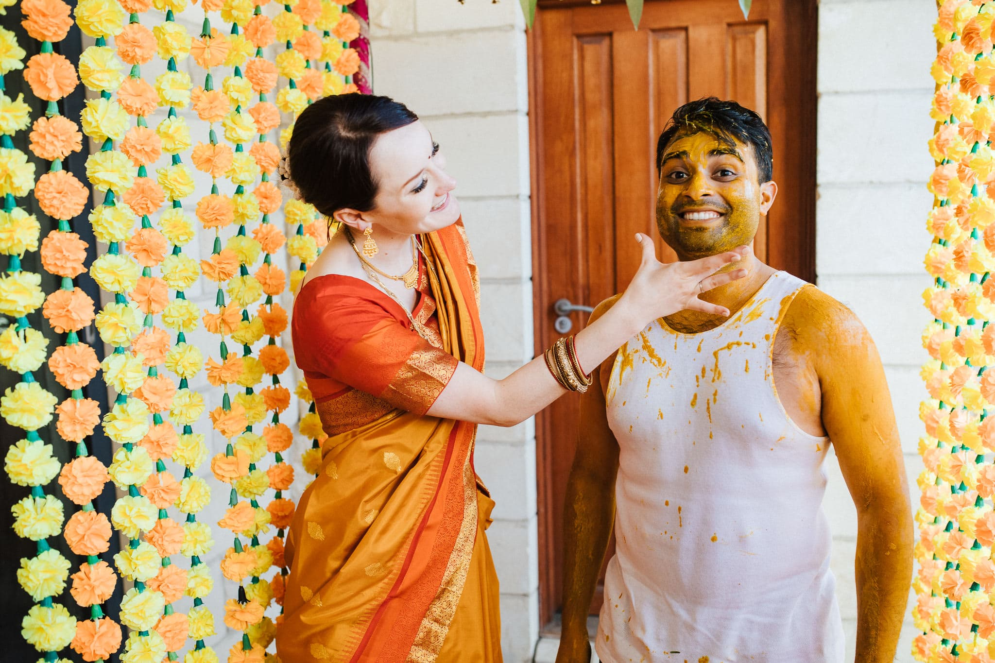 Claire and Rohit's haldi ceremony in Melbourne.