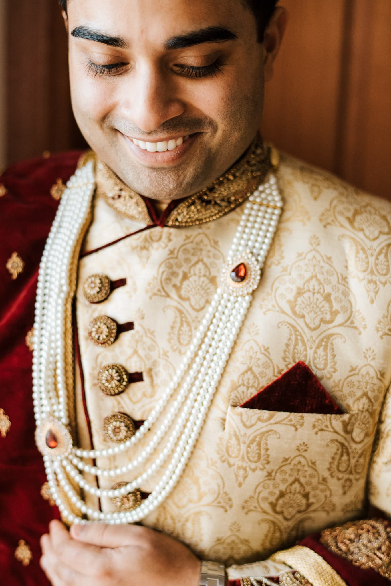 Melbourne groom, Rohit's traditional Indian wedding outfits were purchased from Manyavar and complemented Claire's bridal wear exceptionally well. He wore a beautiful sherwani suit on the wedding day.