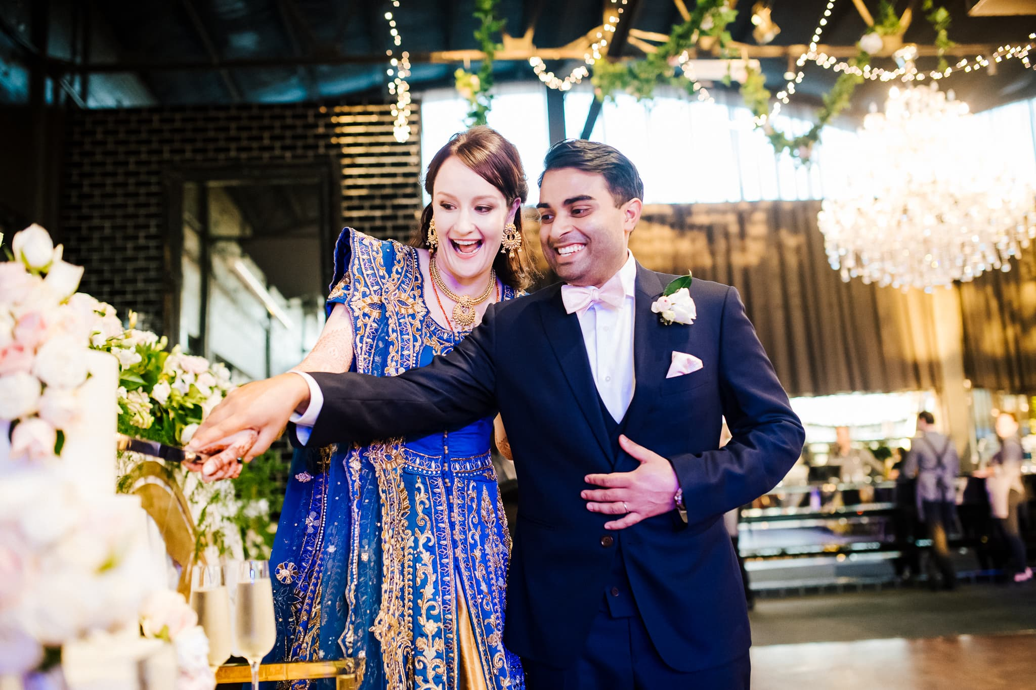 Claire and Rohit's colourful multicultural wedding in Melbourne. Their wedding reception took place at The Park in Melbourne.