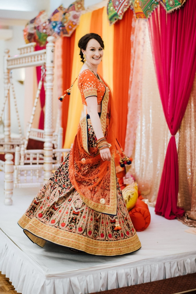 Claire looked stunning in her bridal lehenga at her Sangeet party in Melbourne, Australia.