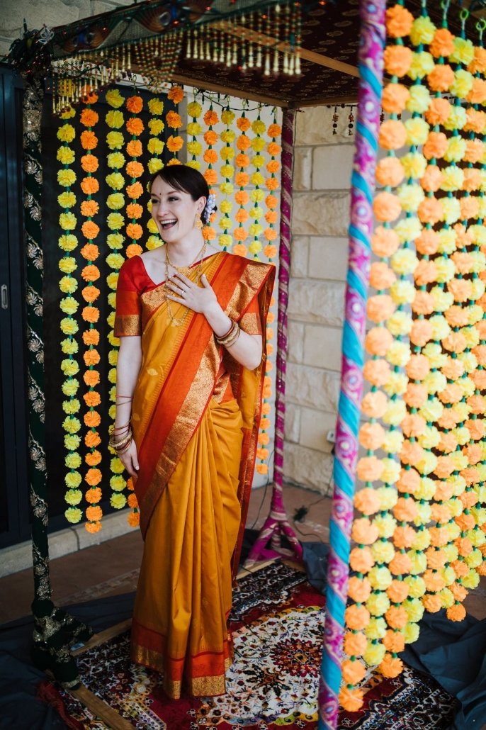 Australian bride, Claire at her colourful Indian wedding in Melbourne.
