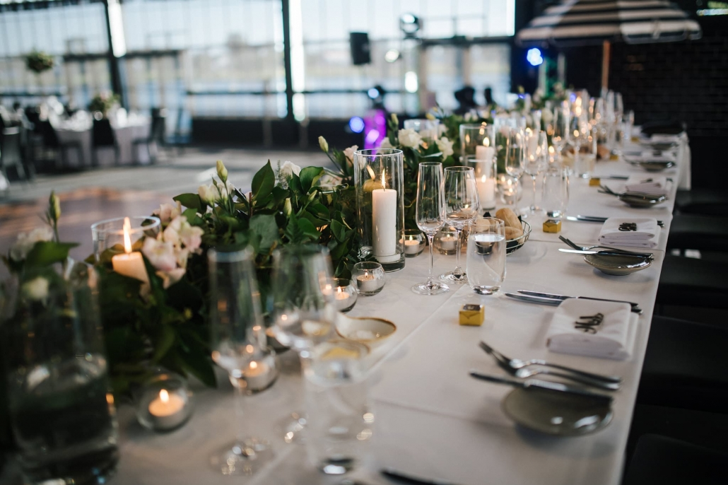 Claire and Rohit's wedding reception was held at The Park in Melbourne, Australia. Their decor was stunning, with lots of greenery and hanging fairy lights.
