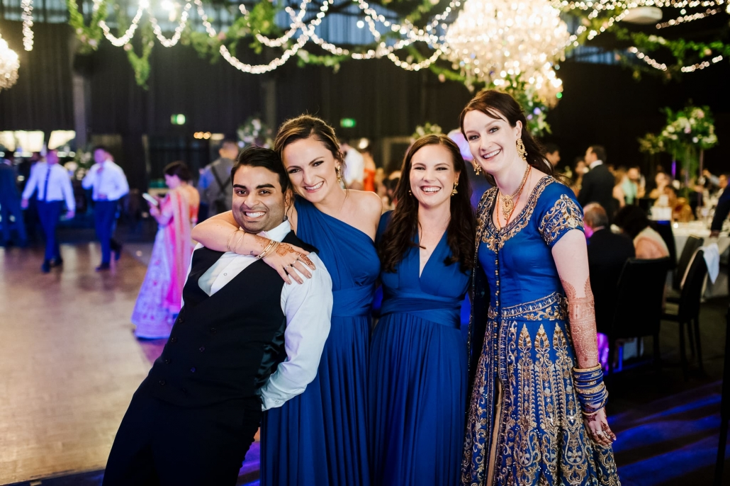 Claire and Rohit's colourful multicultural Indian wedding in Melbourne, Australia