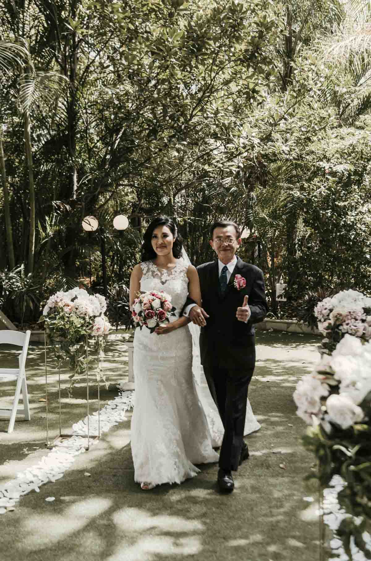 Brisbane bride, Shay was so grateful to have the support of her family for her modern and romantic fusion wedding celebration.