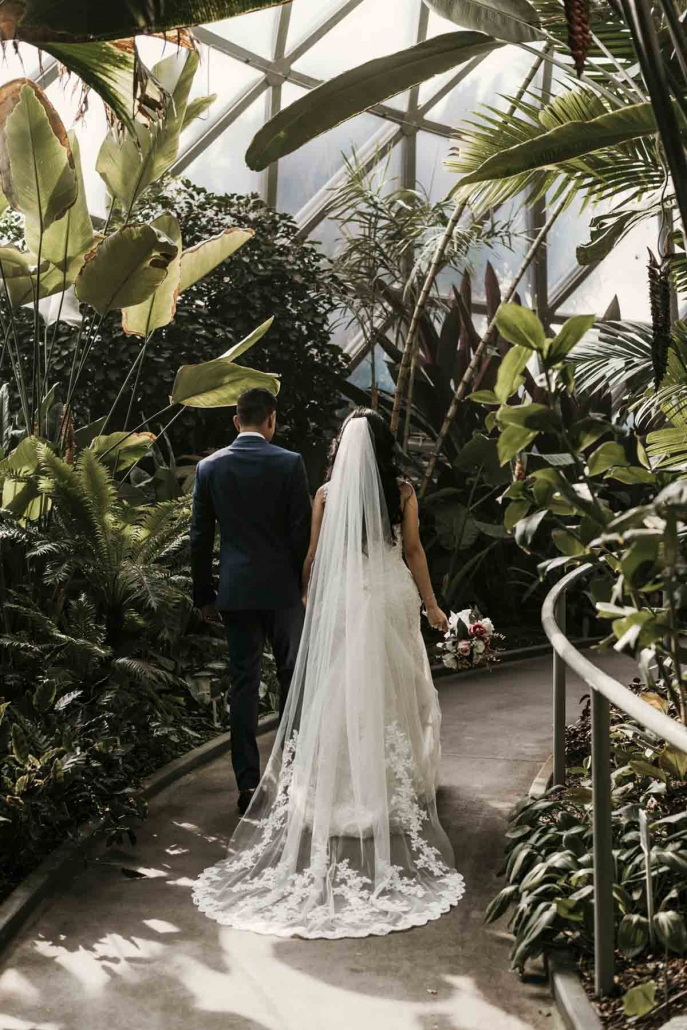 Shay and Uppi's modern and romantic garden wedding was held at the beautiful Boulevard Gardens reception venue in Brisbane. Wedding photography by Sal Singh Photography.