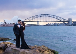 Sydney couple, Natasha and Chinmay's romantic winter proposal actually took place at Crown Towers Melbourne. They had the couples photo shoot along Sydney Harbour with photography being captured by KS Photography.