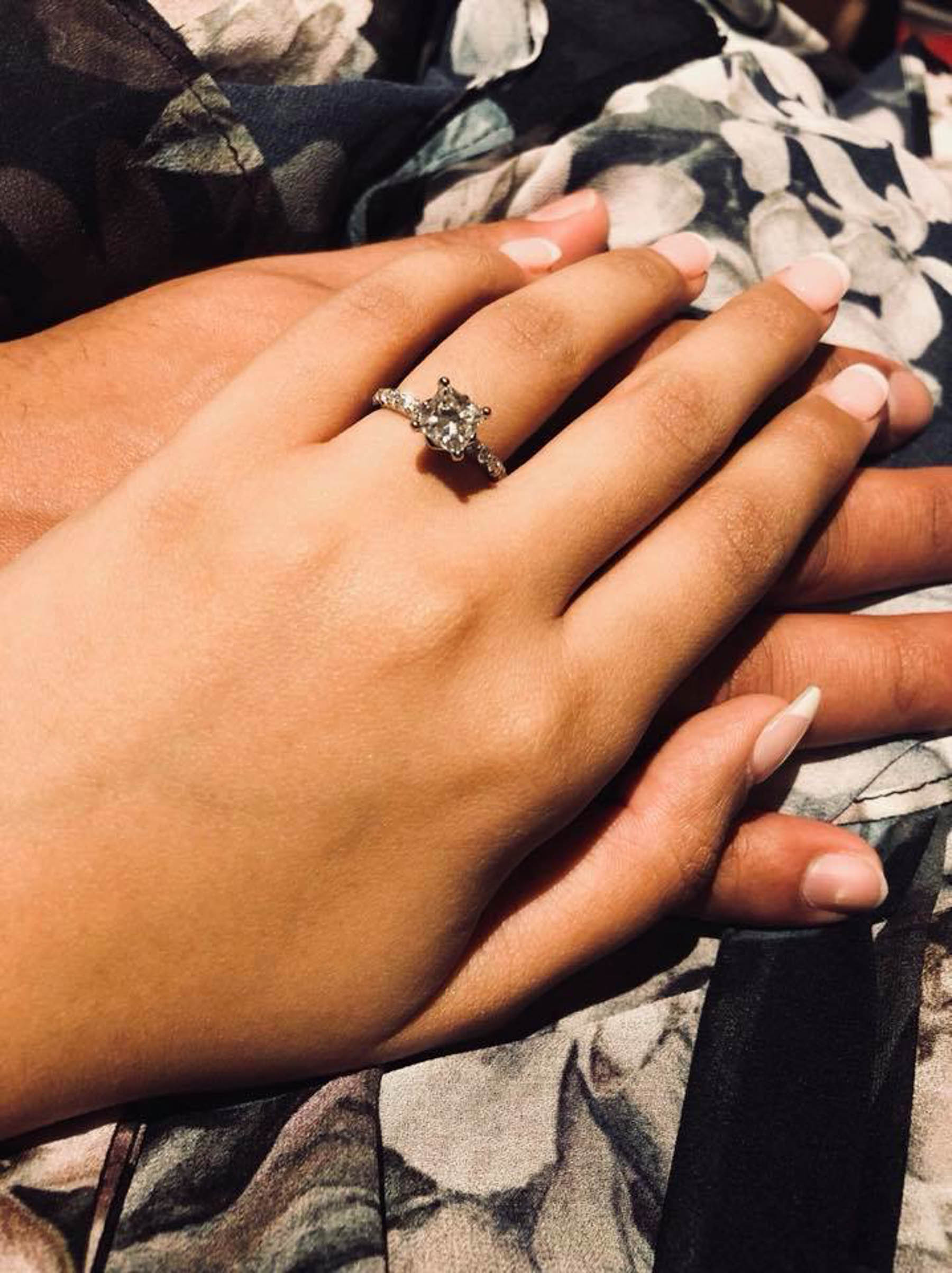Sydney bride, Natasha's engagement ring was a stunning princess cut engagement ring from White Flash. Her big fat Indian wedding will be taking place in Sydney in September 2020.