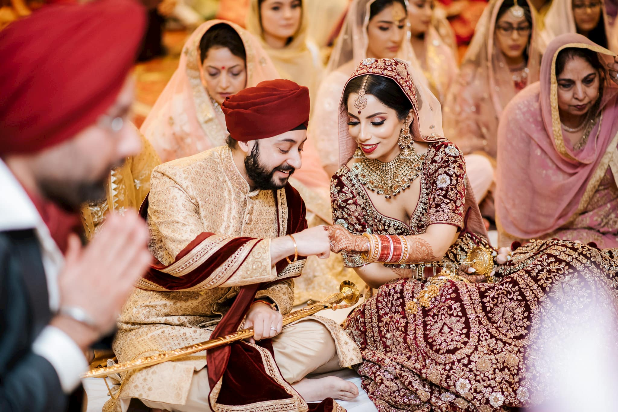 Simran and Anmol's vibrant and modern Sikh wedding celebration in Melbourne. Wedding photography was captured by Indian wedding photographer, Bhargav Boppa.