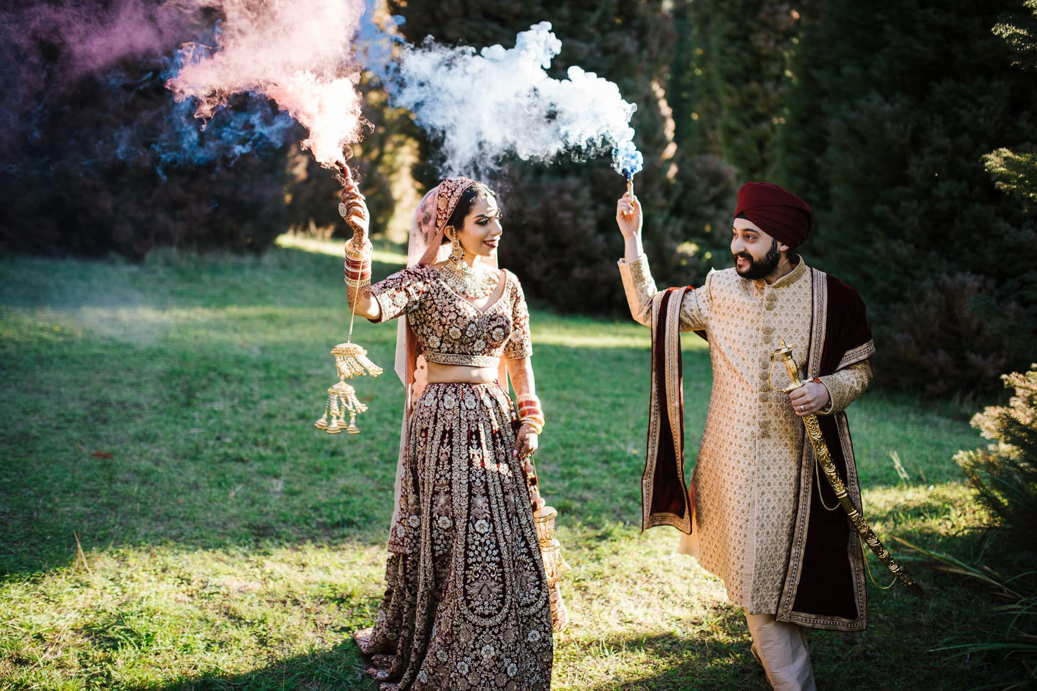 Simran and Anmol's vibrant and modern Sikh wedding celebration in Melbourne. Wedding photography was captured by Indian wedding photographer, Bhargav Boppa. The couple were colour coordinated for every function. We loved Simran's royal and elegant bridal lehenga for her wedding day especially. Go behind the scenes of their wedding celebration on The Maharani Diaries now.