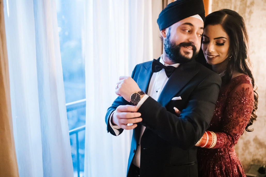 Simran and Anmol's vibrant and modern Sikh wedding celebration in Melbourne. Wedding photography captured by Indian wedding photographer, Bhargav Boppa. Go behind the scenes of their wedding on The Maharani Diaries.