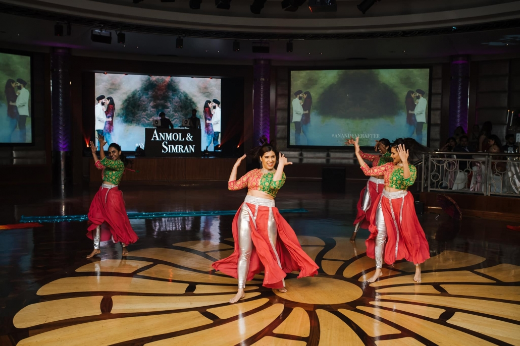 NB Dance performing at Simran and Anmol's Sikh wedding celebration at Park Hyatt Melbourne. Wedding photography captured by Bhargav Boppa. Go behind the scenes of their celebrations only on The Maharani Diaries.