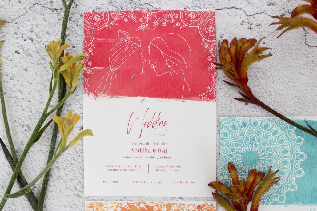 Ratanji Rani Stationery Design - Indian wedding invitations in Sydney, Australia
