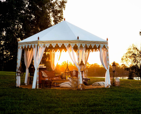 Luxury outdoor boho tents by Glamacamp Weddings and Events
