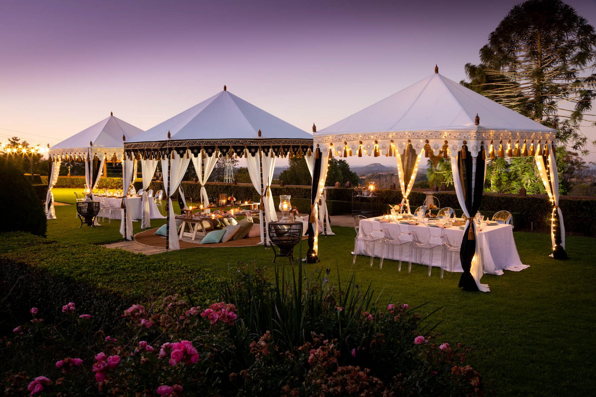 Luxury tent hire specialists in Noosa, Glamacamp Weddings and Events